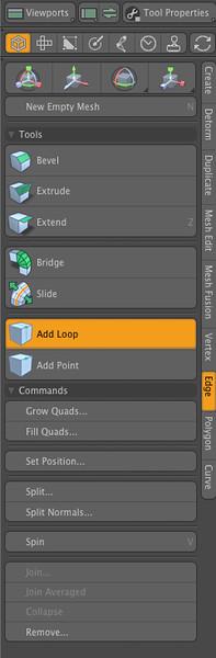 6-112 Modo's edge loop tool