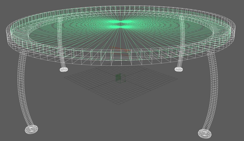 2-4 The wireframe of the table
