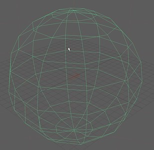 1-3 The wireframe of the sphere