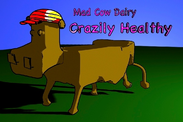 8-16 The Mad Cow Dairy toon cow