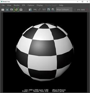1-9 Render of checkerboard sphere