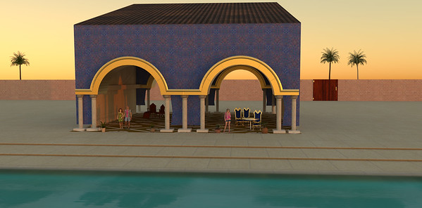 Figure 1 2 the cabana with gold metallic arches