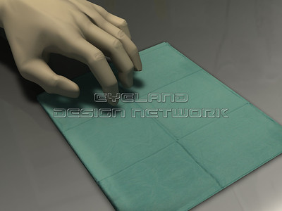 instrumente abdecktuch handschuh