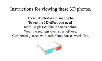 Instructions for viewing these 3D photos.