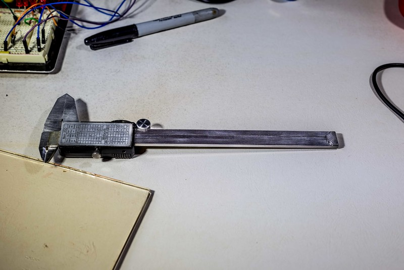 Digital Caliper has thin layer of Stainless Steel