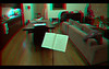 3D frame grab from video converged on the music stand using Dashwood Stereo3D Toolkit v2 in Final Cut Pro. Equipment: Two Sony CX550V camcorders in parallel (no toe-in convergence) with 0.75x wide-angle adapters attached. Approx 67mm stereo base (inter-ocular distance).