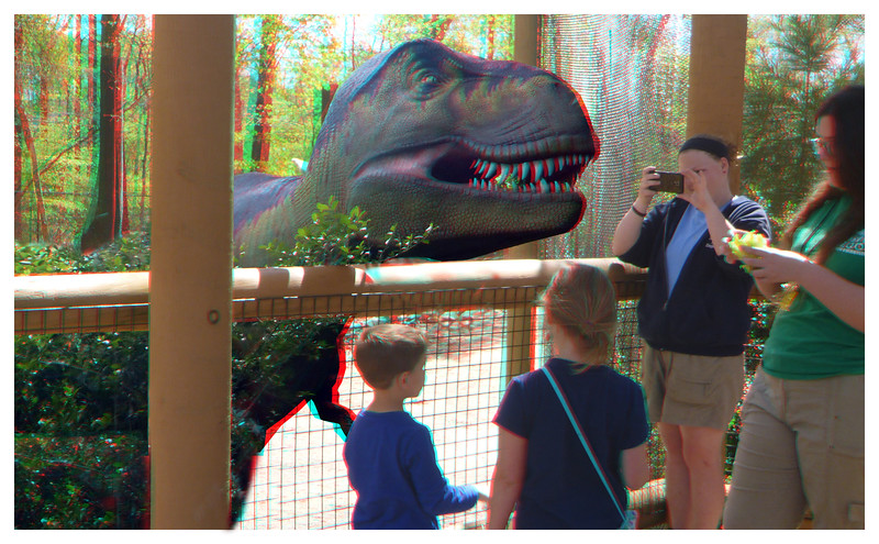 Take a picture of your children feeding T Rex