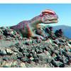 Dilophosaurus on the rocks