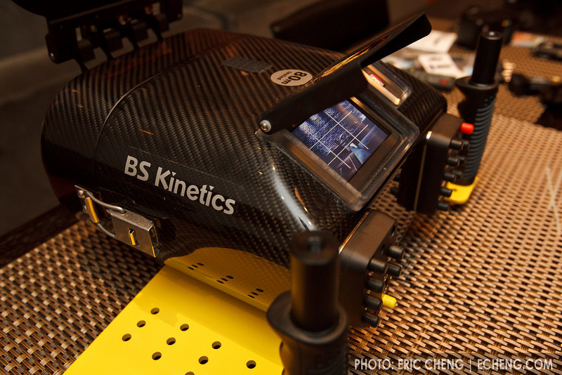 BS Kinetics housing with two Sony CX550V cameras installed