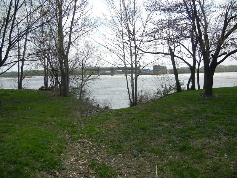 Most likely the trail where the keelboat was docked and tied to a riverbank tree.  General Clark provided some advice to Lewis as to some modifications that could be made to expand the storage area, comfort and defense of the keelboat. These carpentry modifications were made during the winter months while the Expedition was camped at Camp Dubois near St Louis, Missouri.