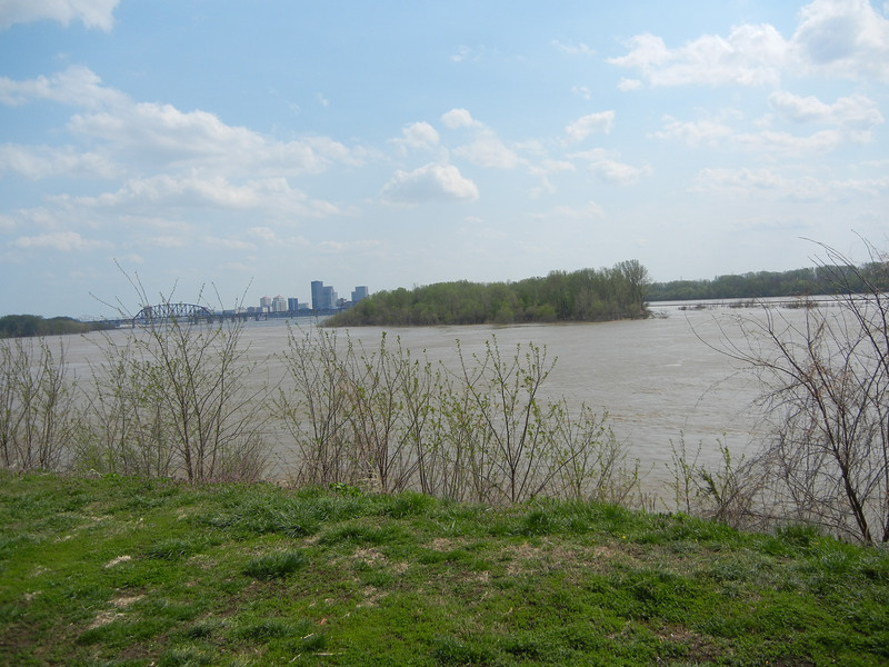 View of Sand Island from Gen. George Rogers Clark's cabin.