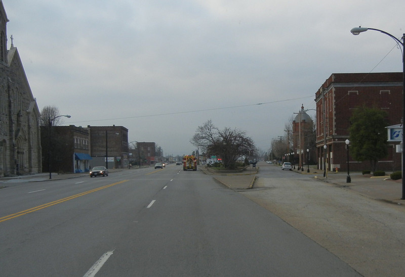 Downtown Cairo, Illinois. This town is gradually eroding away from annual flooding that comes most years.