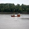 This replica of the keelboat reflects the view of their travels down the Ohio River towards the Mississippi River.