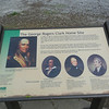 Marker commemorating the four historical figures of the early 1800's.
