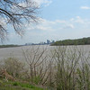 View of Louisville from Clark's cabin.