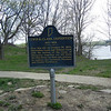 Site where Lewis met General George Rogers Clark and William Clark.  Both General Clark and William Clark had inherited land from their father at this site.