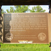 Marker identifying the site where Meriwether Lewis spent 7 days teaching William Clark about his new knowledge about navigation with use of the solar positions,  Clark was taught how to use the sexton, compass, artificial horizon and several other new navigational tools.