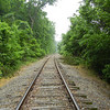 The two mile hike covers three curves on the railroad tracks.