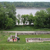 Cole Creek Landing park was the first campsite of the Expedition.  Clark lead the crew of probably 40 to 44 troops and civilians about 4 miles up the Mississippi on to the Missouri River.  This first four miles was a trial run to test the crews skills at navigating and their manpower in propelling the large 27,000 pound keelboat upstream with oars.  Eventually they would average about 10 to 12 miles a day upstream to today's Washburn, North Dakota (called Fort Mandan), where they sheltered for the brutal Dakota winter from November of 1804 to April of 1805.