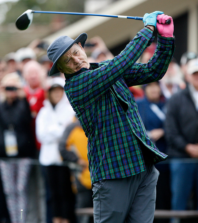 . Bill Murray during the 3M Celebrity Challenge at the Pebble Beach Golf Links on Wednesday, Feb. 8, 2017 during the AT&T Pebble Beach Pro Am.  (Vern Fisher - Monterey Herald)