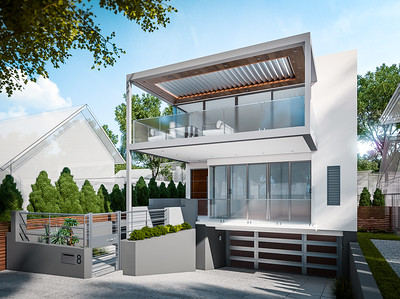 Modern Home 3d Architectural Rendering