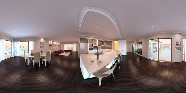 360 Panoramic 3d Rendering