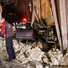Jeep hits Barn in East Earl