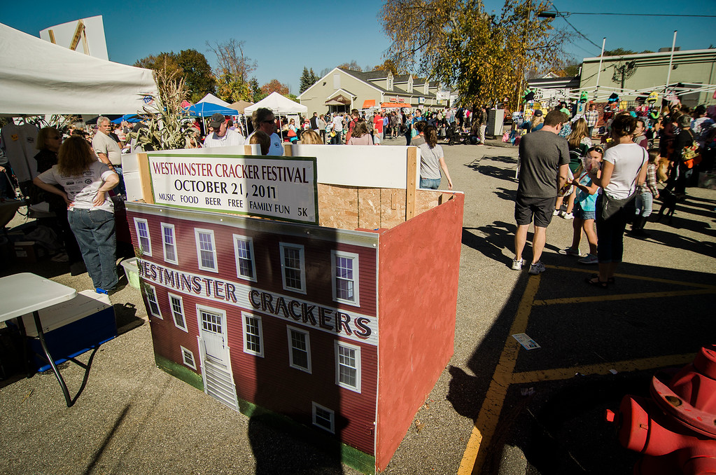 . Guests mingle around the 3rd annual Westminster Cracker Festival on Saturday, October 21, 2017. SENTINEL & ENTERPRISE / Ashley Green