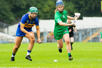 Tipperary's Clodagh Quirke in action against Limerick's Dearbhla Egan