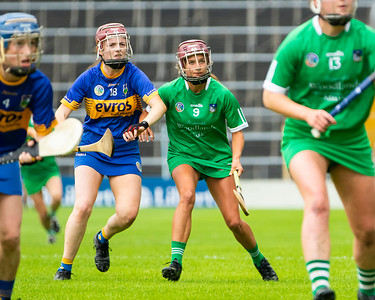 Tipperary's Grace O'Toole in action against Limerick's Roiin Ambrose
