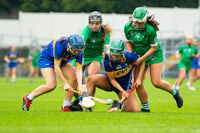 Limerick's Laura Stack, Rebecca Delee and Tipperary's Julieanne Bourke and Clodagh Quirke