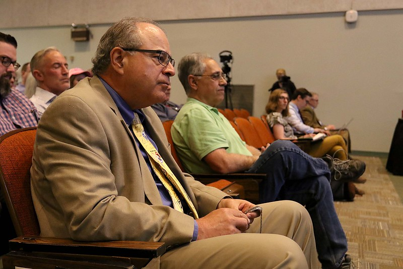 The debate for the Third District was held at Fitchburg State University's Conlon Fine Arts building on Wednesday night in Fitchburg. Sun Editor Jim Campanini was the time keeper for the debate. SENTINEL & ENTERPRISE/JOHN LOVE