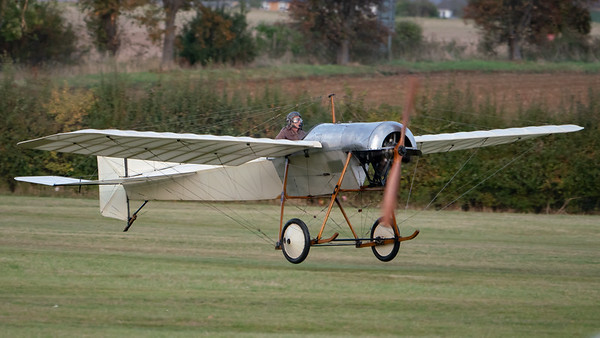 Old Warden-> Race Day 2018-> Display-> Edwardians, Aircraft-> Blackburn-> Monoplane Type 'D' - 1912, Shuttleworth - 07/10/2018@17:47