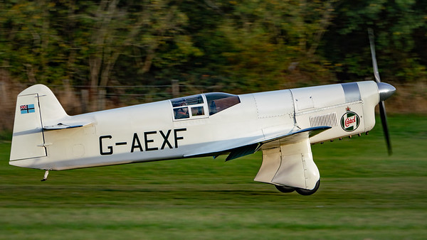 Old Warden-> Race Day 2018-> Display-> Famous Racers, Aircraft-> Percival-> Mew Gull-> G-AEXF, Shuttleworth - 07/10/2018@17:26