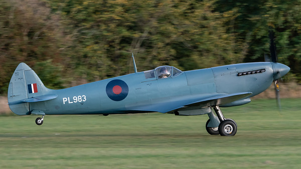 Shuttleworth, Aircraft-> Vickers-Supermarine-> Spitfire-> PR.XI-> G-PRXI (PL983), Old Warden-> Race Day 2018-> Departures - 07/10/2018@17:35