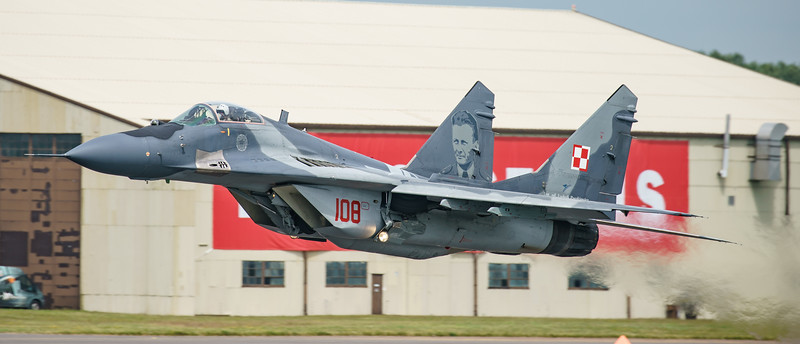 108, Fulcrum, Mig-29, Mikoyan-Gurevich, Polish Air Force, RIAT2016 (17.4Mp)