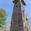 The 60 foot rapelling tower and rock climbing wall at Horace A. Moses Scout Reservation in Russell reopened this past Saturday.