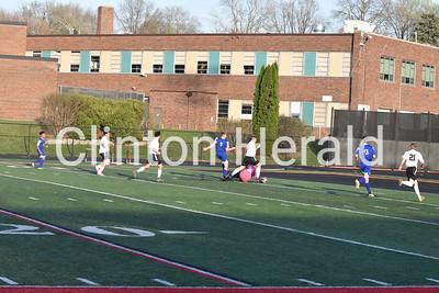 4-27-18 Clinton boys soccer vs. Davenport North