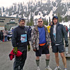 Ski-to-Sea Relay 2010. Pat Schibly, Tom Tomtan and I on Mount Baker at the start of the event. Ski2Sea-WADS-30may2010-190006