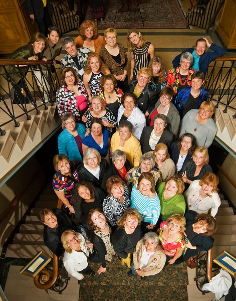 "<font size=""1"">Classes of 1977-1980 (the rows snake) (1st row) Mary Merrit Brown, Jan Shirley Bagby, Kathy (Howton) Brooks, Lucy Walker Shaffer, Rosy Erganian, Char LaBarge, Janeen Bjork (all Class of 1978) (2nd row)Cathy Armajani, Jeannie Chavanne McGann, M. Anne Murphy, Cathy Haskett Hany, Kate Henry (all Class of 1978) (3rd row)Cindy Hayes Worthy, Jeri Cay Randolph Phillips, Judy Taylor Preston, Mary Ellen Johnson George, Cindy Hernandez-Schwartz, Pat Mueller Turner, Julie McCallum Sweet (all Class of 1978) (4th row)Marta Halter, Janet Lynas Loper, Clara Sky Anderson, Diana Mingauw Johnson (all Class of 1978) (5th row) Martha Sheets Kempf ('77), Ardith Hamilton Kirchhoff ('78), Sharon Rexroad ('80),Jeanette Poillon ('79) (6th row)Leslie White Clay ('79), Maggie Meier ('80), Sandy Schiess ('78), Sue Trost Callahan ('79), Mary Ann Tyrrell ('79), Betsy Metzger ('79), Liz Kroeker Wells ('79) (7th row) Linda Bower ('79), Anne Pedersen ('80), Joy Katzen-Guthrie ('80), Jennie Shadbolt Farmer ('79), Deb Conard Baldwin ('77), Nancy Svoboda ('77), Laurel Olsen Robinson ('79)"
