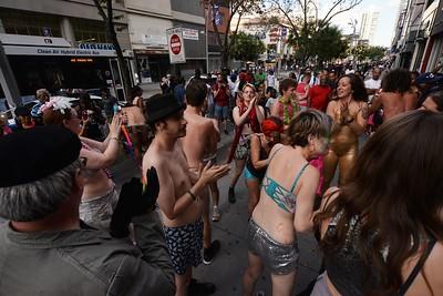 LOOPING  at  the  FULTON  STREET  MALL  2015   -    Brooklyn  NY