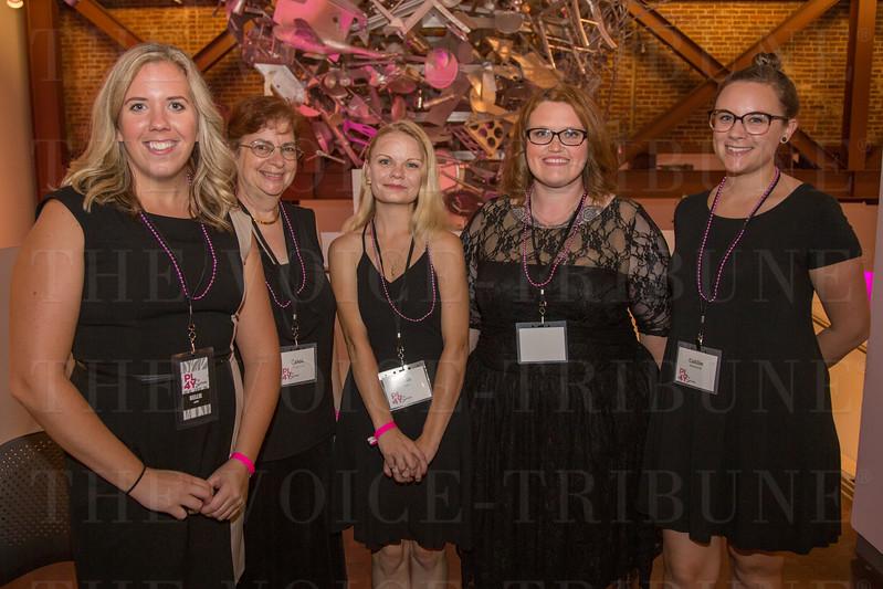 Kellie Kierce, Carol Savkovich,  Sarah Dugan, Ashley Jacobs and Caitlin Willenbrink.