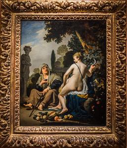 Vertumno y Pomona (Caesar van Everdingen)