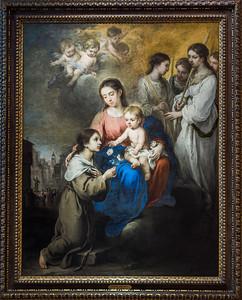 La Virgen y el Niño con santa Rosa de Viterbo (Bartolomé Esteban Murillo)