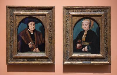 Retrato de un hombre de la familia Weinsberch y Retrato de mujer (Bartholomäus Bruyn el Viejo)