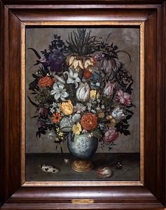 Vaso chino con flores, conchas e insectos (Ambrosius Bosschaert I)