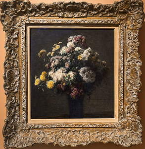 Crisantemos en un florero (Henri Fantin-Latour)