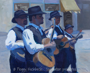 Festa Musicians - 16x20, oil on canvas  C0379