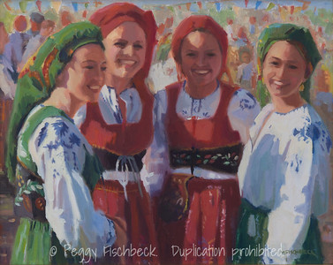 Four Dancers - 16x20, oil on canvas. D0403
