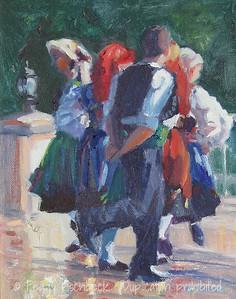 Festa Dancers, 8x10, oil panel  C0320